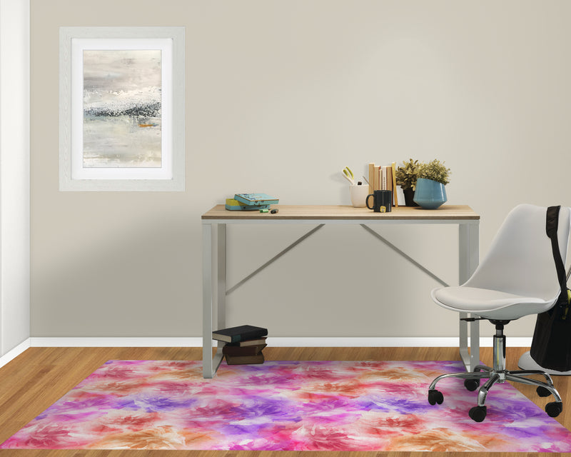 FLORAL BLOOMS PINK AND PURPLE Office Mat By Jackii Greener