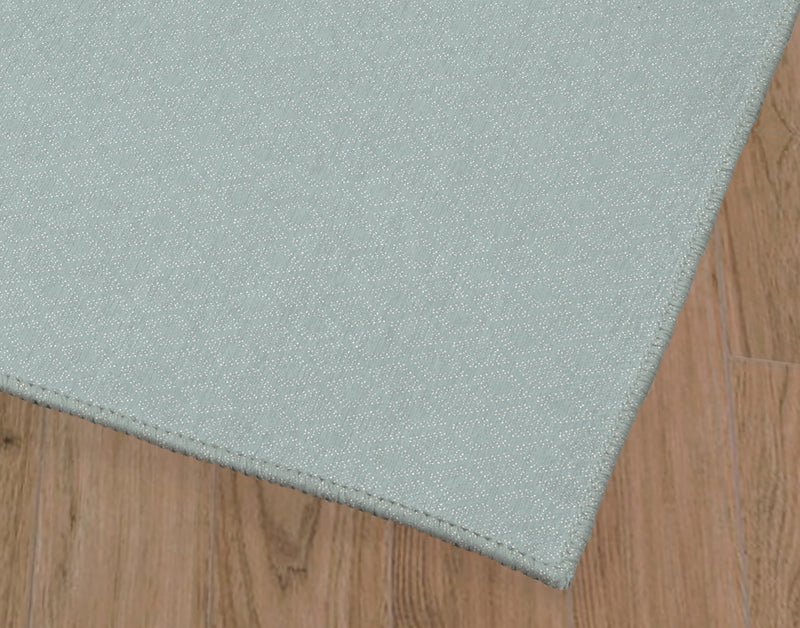 DOTTED GEO BLUE Office Mat By Lemon Lovegood
