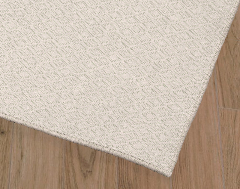 DOTTED GEO CRéME AND MINT Office Mat By Lemon Lovegood