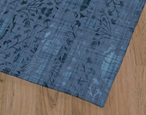 SUZANI DISTRESSED BLUE Office Mat By Marina Gutierrez