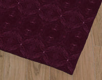 DELPHI MAROON Office Mat By Michelle Parascandolo
