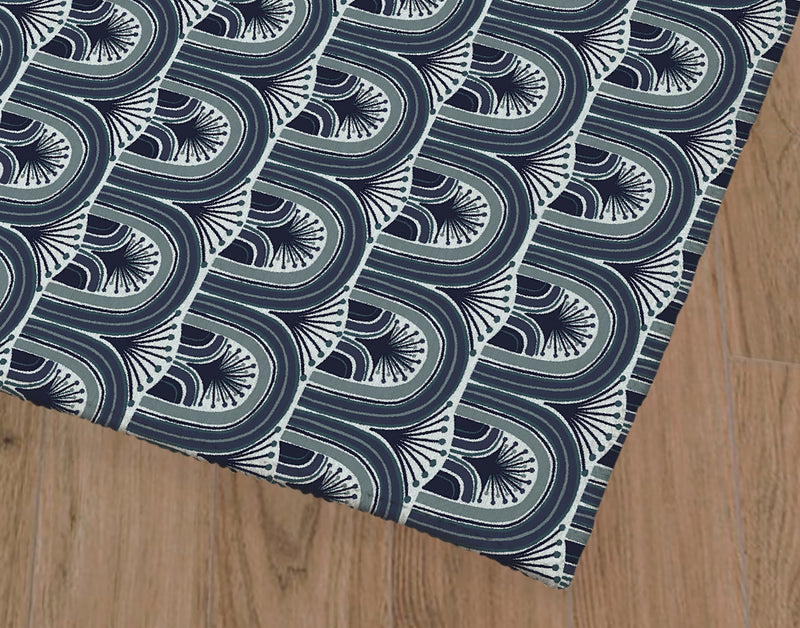 DECKER BLUE Office Mat By Michelle Parascandolo