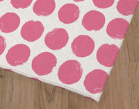 DOTS BRIGHT PINK Office Mat By Terri Ellis