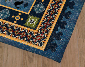 ODIN DARK BLUE Office Mat By Terri Ellis