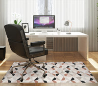 TRIANGLES AND CIRCLES Office Mat By Terri Ellis