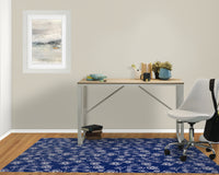 EMA COBALT BLUE Office Mat By Terri Ellis