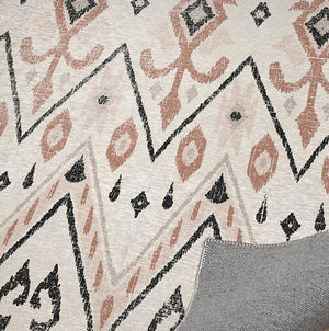 BELLA CREAM AND RUST DISTRESSED Office Mat By Terri Ellis