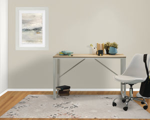 EMMA TAUPE AND BLACK DISTRESSED Office Mat By Terri Ellis
