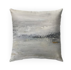 ABYSS GREY Indoor|Outdoor Pillow By Jessica Osborne
