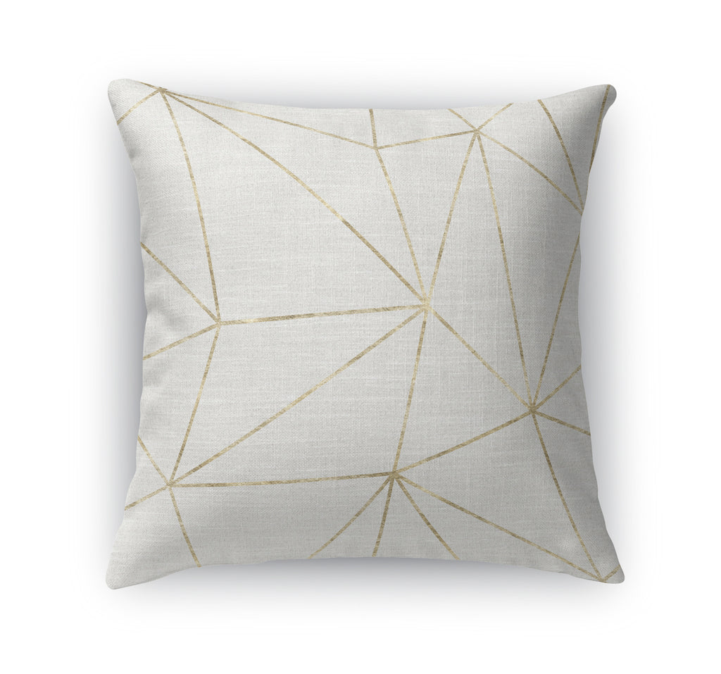 PRISM LIGHT GOLD Indoor|Outdoor Pillow By Marina Gutierrez