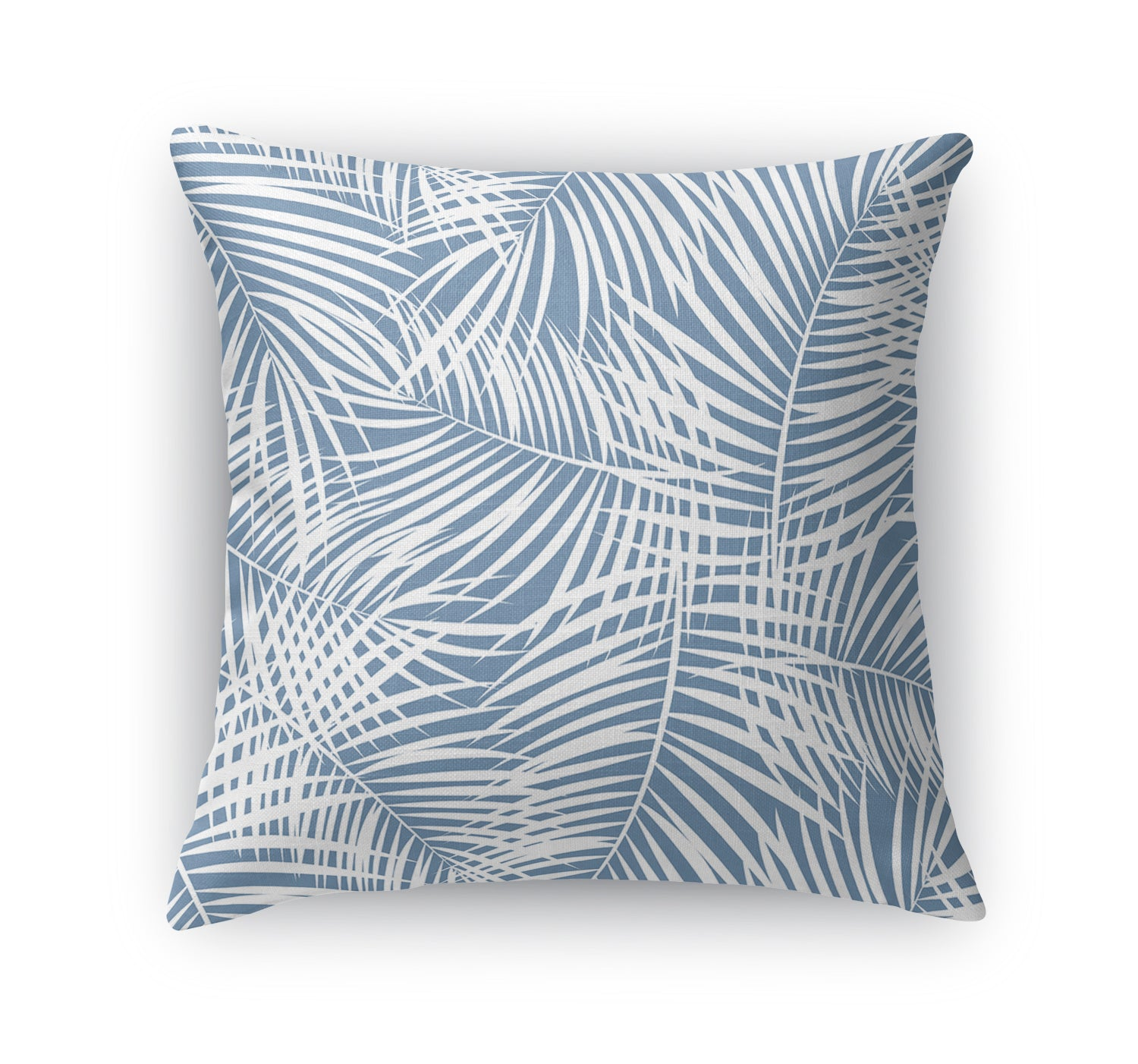 PALM PLAY BLUE Indoor|Outdoor Pillow By Terri Ellis