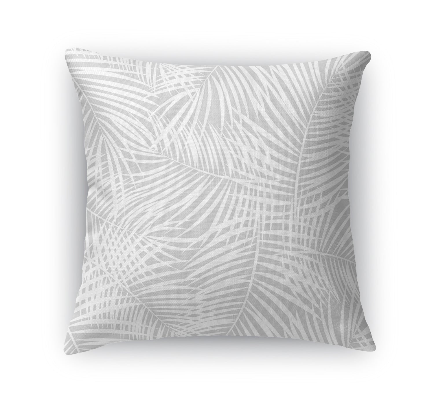 PALM PLAY GREY Indoor|Outdoor Pillow By Terri Ellis