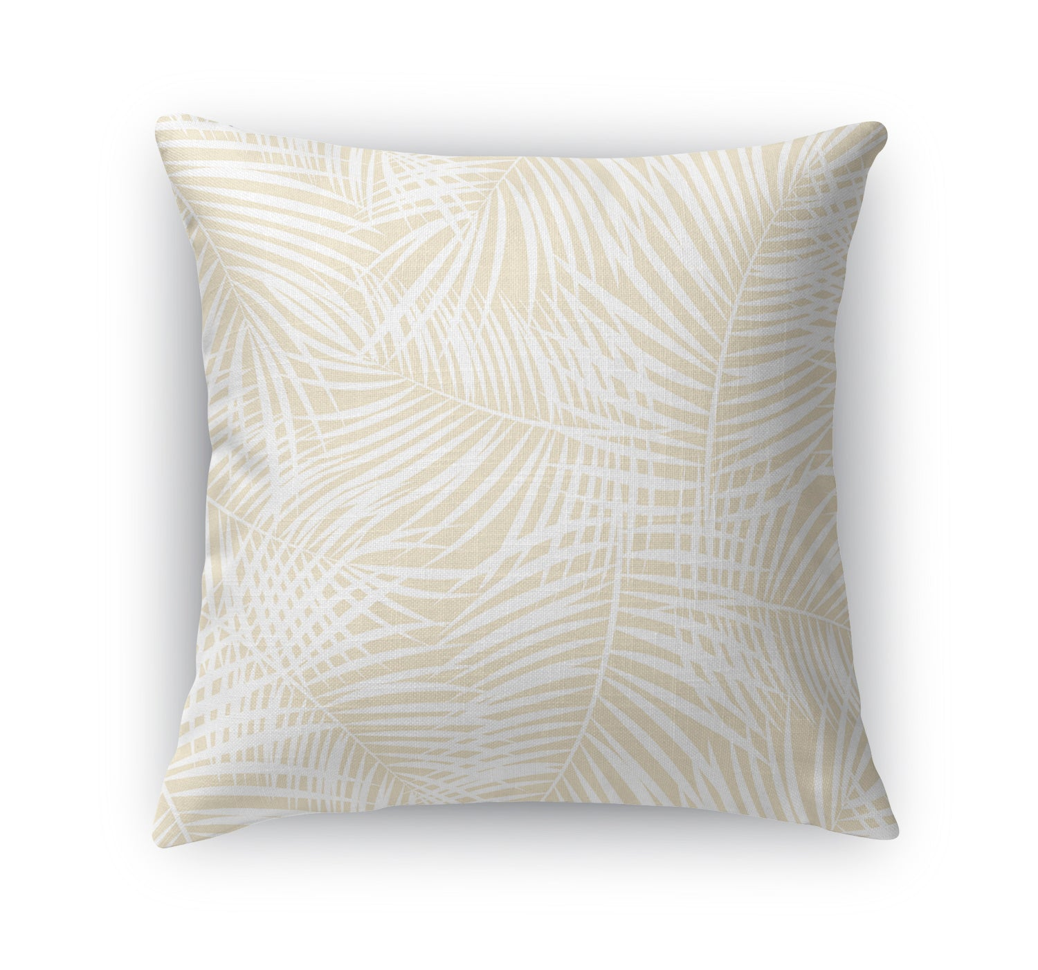 PALM PLAY OATMEAL Indoor|Outdoor Pillow By Terri Ellis