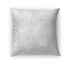 POSEIDON GREY Indoor|Outdoor Pillow By Terri Ellis
