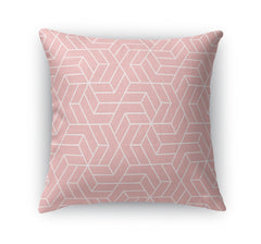 TITAN PINK WHITE Indoor|Outdoor Pillow By Terri Ellis