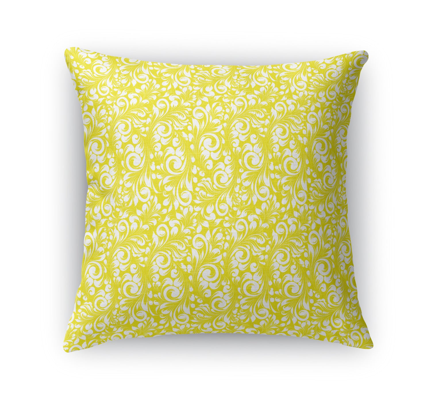 PLUMERIA YELLOW Indoor|Outdoor Pillow By Terri Ellis