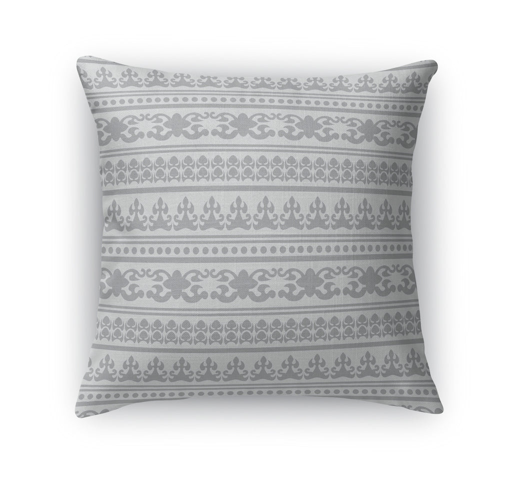 ANGKOR GREY Indoor|Outdoor Pillow By Tiffany Wong