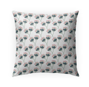 Bunch White Indoor|Outdoor Pillow By Tiffany Wong