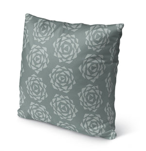 Grenada Slate Green Indoor|Outdoor Pillow By Tiffany Wong