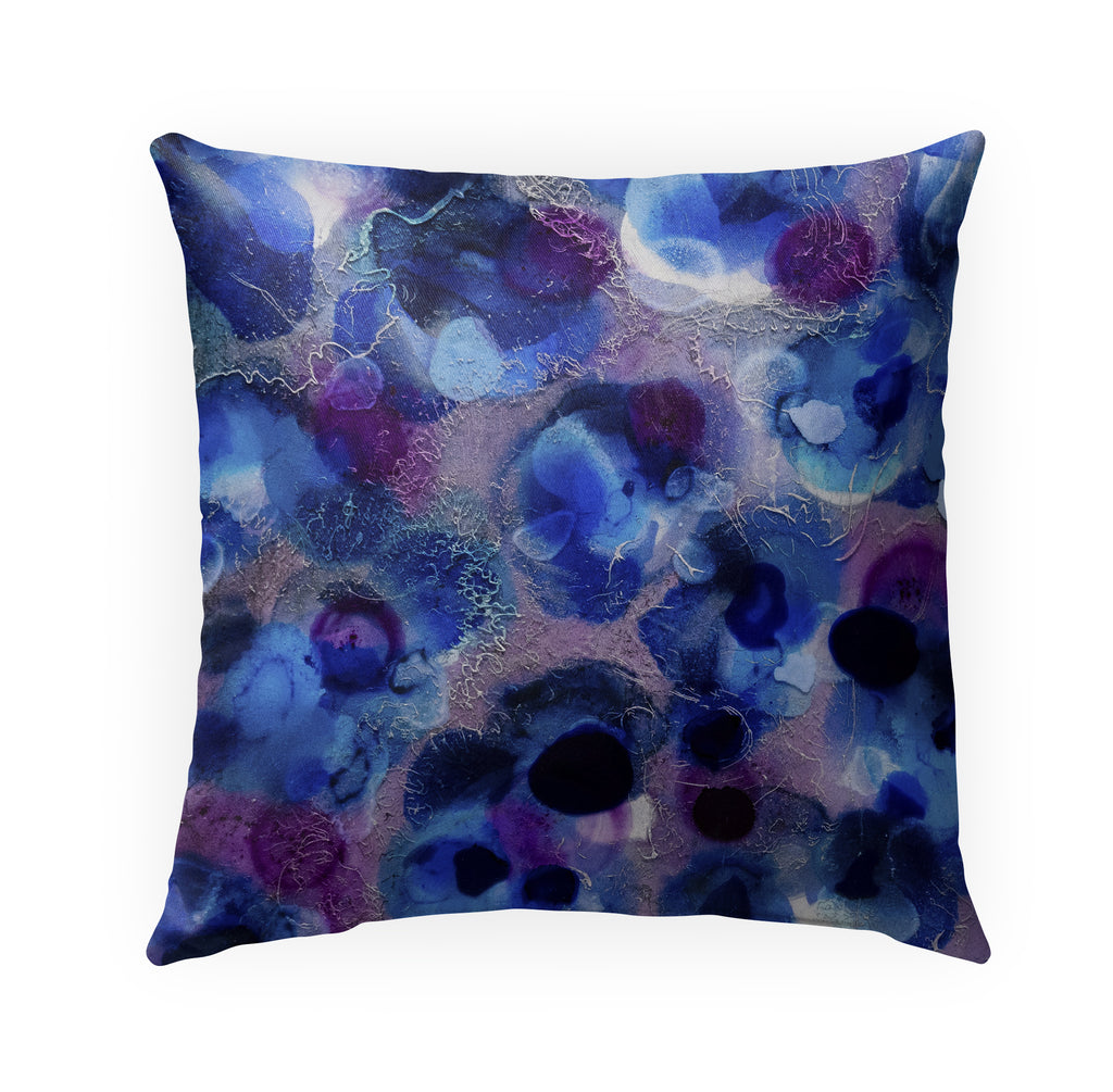 PURPLE SEA Indoor|Outdoor Pillow By Christina Twomey