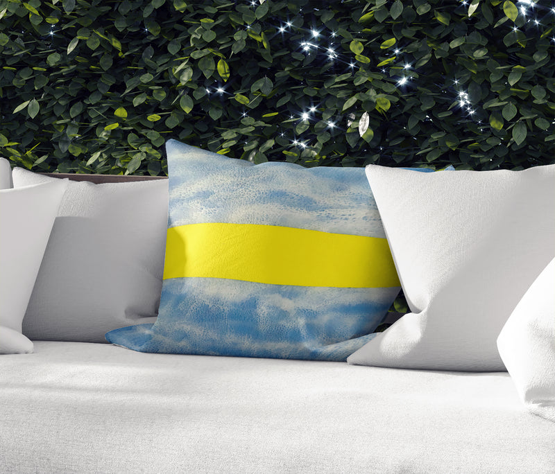 SURF ADVISORY Indoor|Outdoor Pillow By Christina Twomey