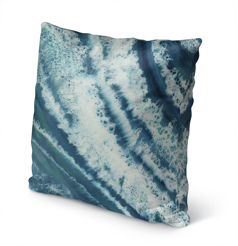 TROPICAL WAVES Indoor|Outdoor Pillow By Christina Twomey