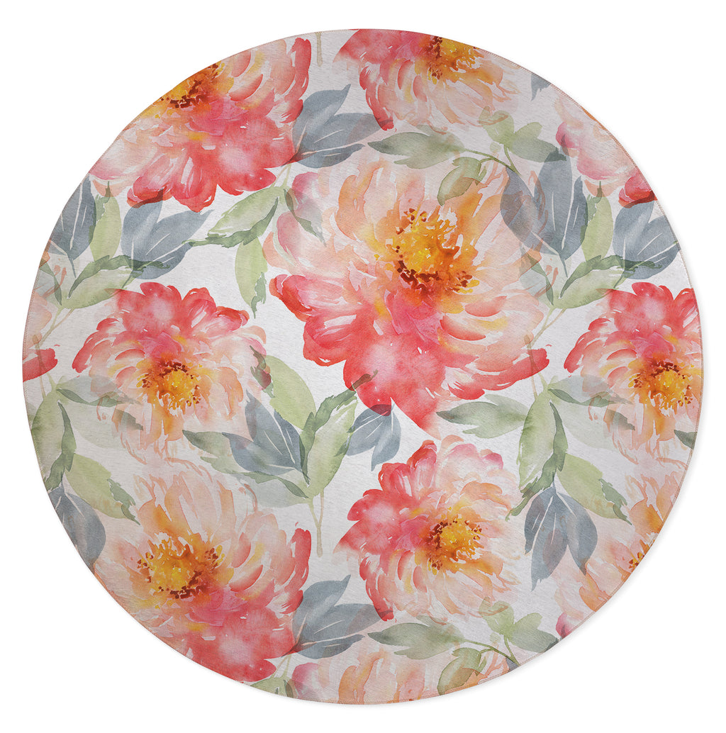 FLORAL LOVE Area Rug By Jackii Greener