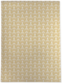 SYNC GOLD Area Rug By Becky Bailey