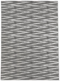 WAVE RIDE BLACK & WHITE Area Rug By Becky Bailey