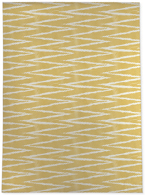 WAVE RIDE GOLD Area Rug By Becky Bailey