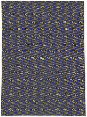 ACRO BLUE AND YELLOW Area Rug By Becky Bailey