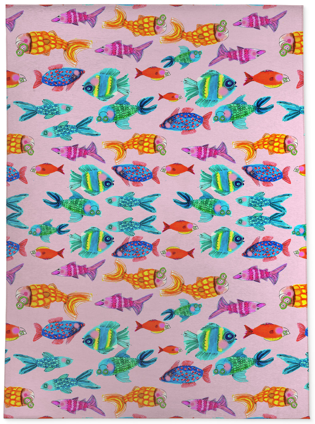 FISH AND MORE FISH Area Rug By Anne Cote