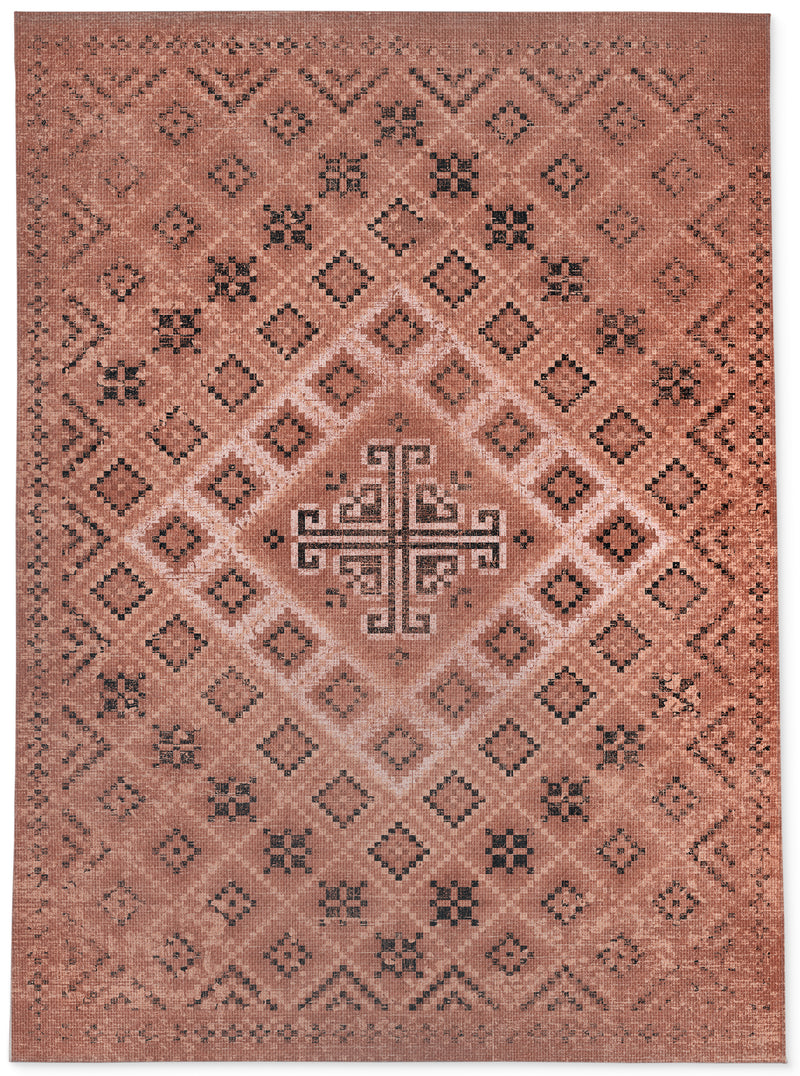 ADILAND RUST DISTRESSED Area Rug By Terri Ellis