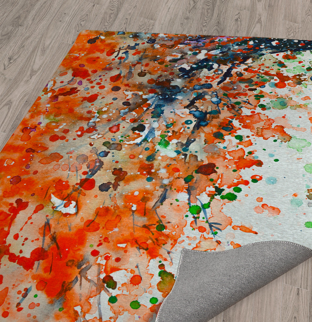 UNDER THE SHADE OF THE FLAMBOYANT Area Rug By Zaira Dzhaubaeva