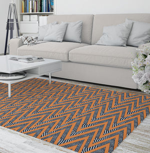 ACRO ORANGE Area Rug By Becky Bailey