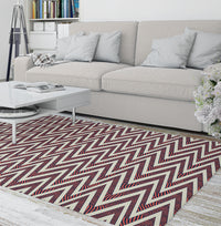 ACRO RED Area Rug By Becky Bailey