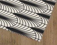 ARCHES BLACK & WHITE Area Rug By Becky Bailey
