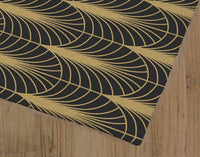ARCHES BLACK & GOLD Area Rug By Becky Bailey