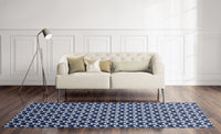 SYNC NAVY Area Rug By Becky Bailey