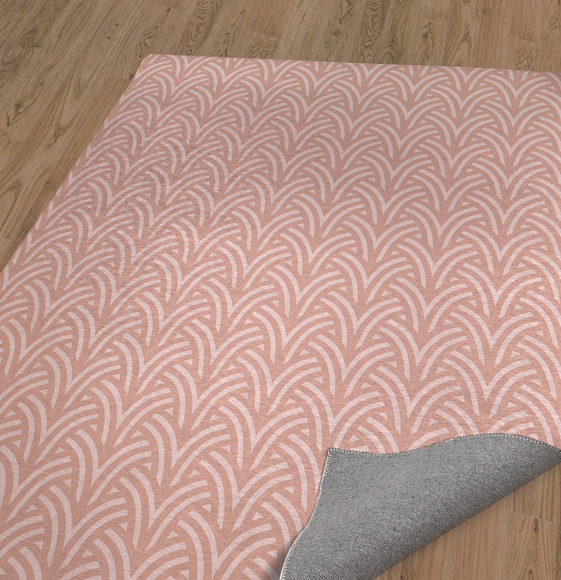 ZELDA PINK Area Rug By Becky Bailey