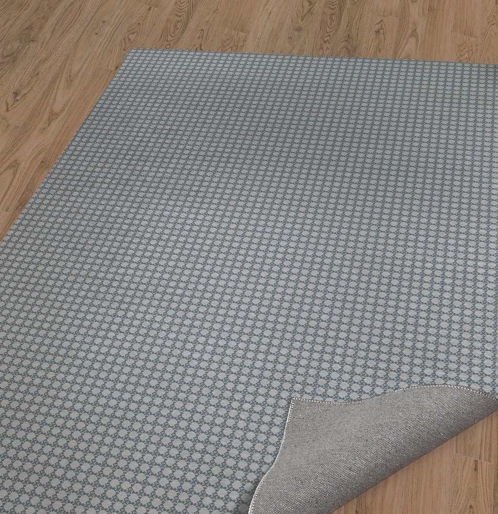 BLIMP GREY BLUE Area Rug By Hope Bainbridge