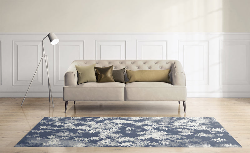 ANNA BLUE Area Rug By Scandi Girl Studio