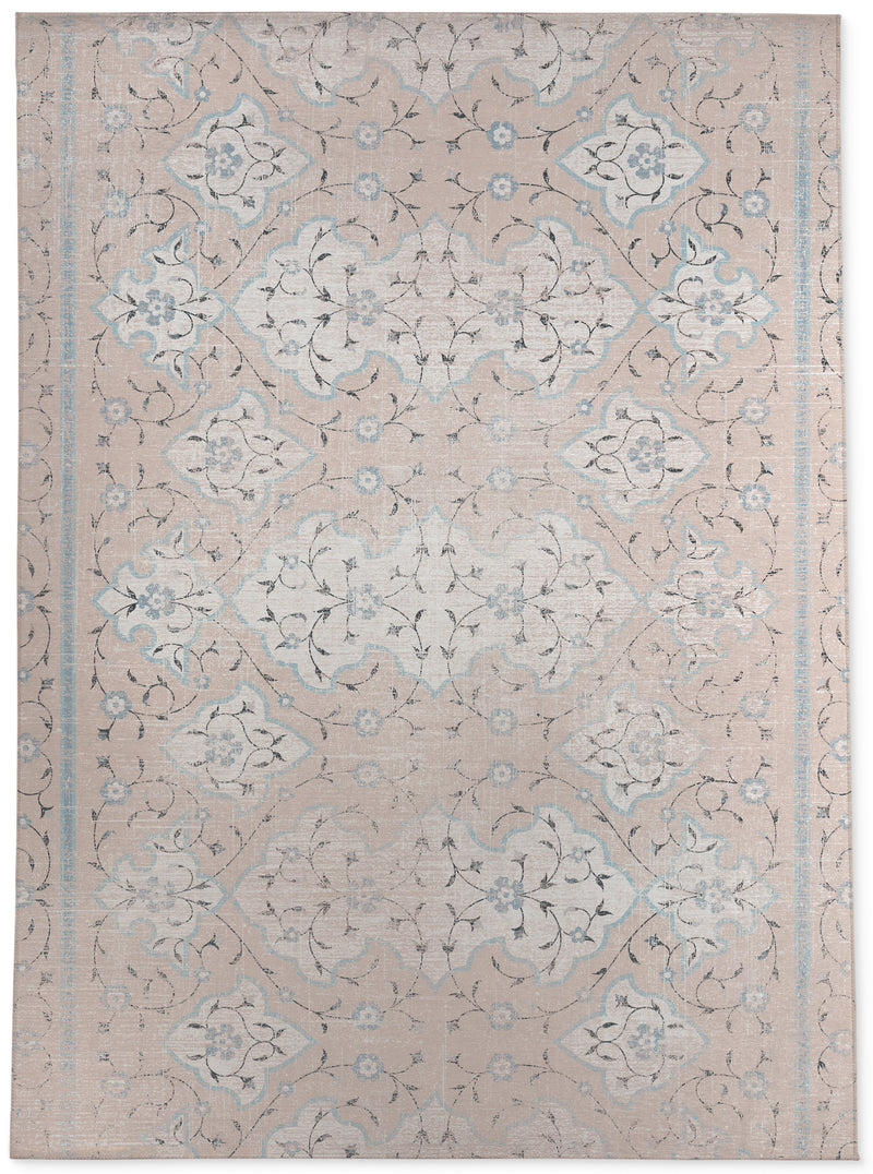 ALICE PINK AND BLUE Area Rug By Terri Ellis