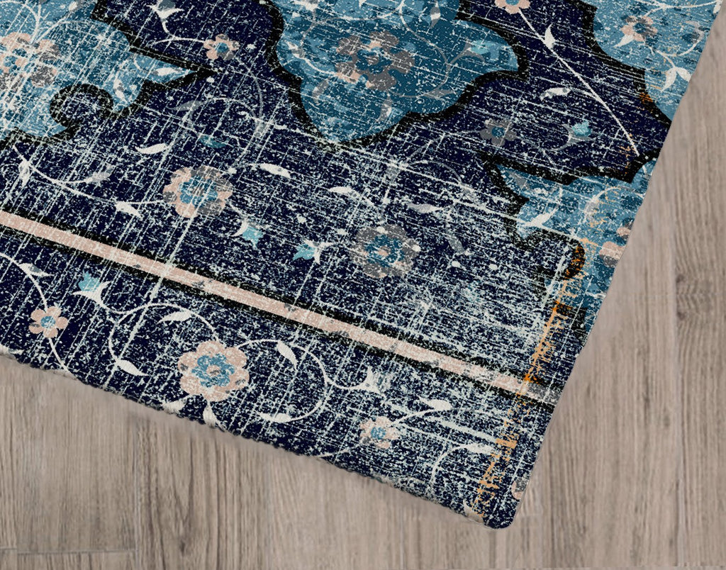 AVA BLUE Area Rug By Terri Ellis