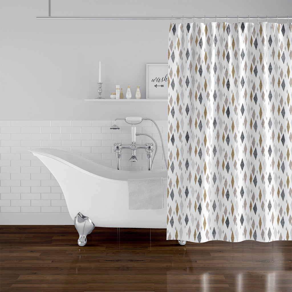 DANISH DIAMOND TAN Shower Curtain By Becky Bailey