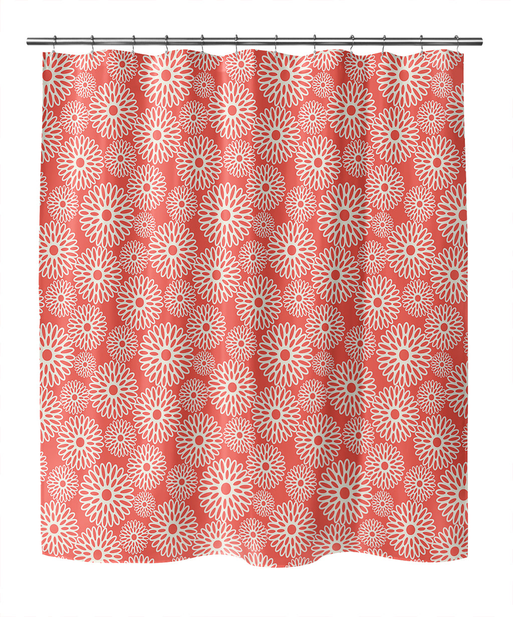 FLOWER POWER RED Shower Curtain By Becky Bailey