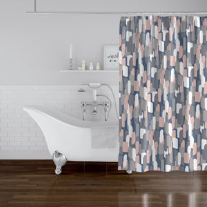 NEVALI V BLUE Shower Curtain By Marina Gutierrez