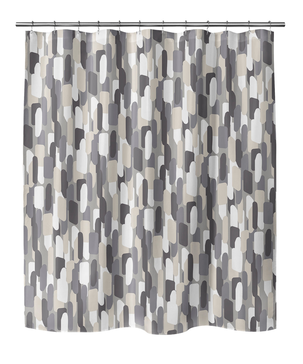 NEVALI V LIGHT GRAY Shower Curtain By Marina Gutierrez