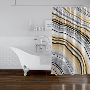 AGATE Shower Curtain By Marina Gutierrez