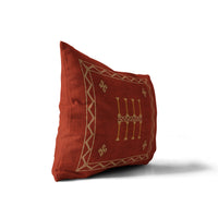AMULET KILIM RUST Indoor|Outdoor Lumbar Pillow By Becky Bailey